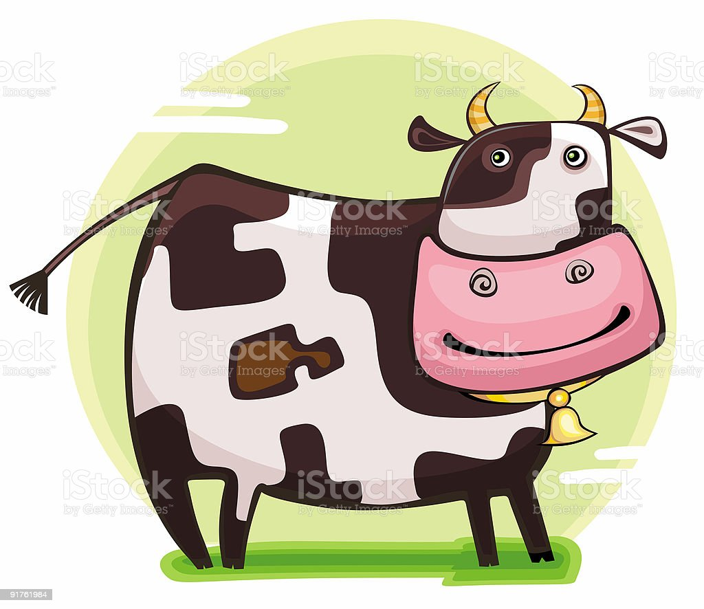 Cute friendly cow. royalty-free stock vector art