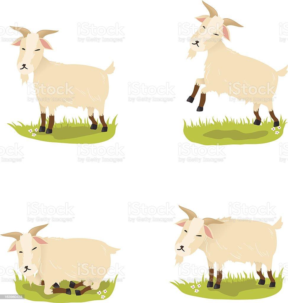 Cute goats royalty-free stock vector art