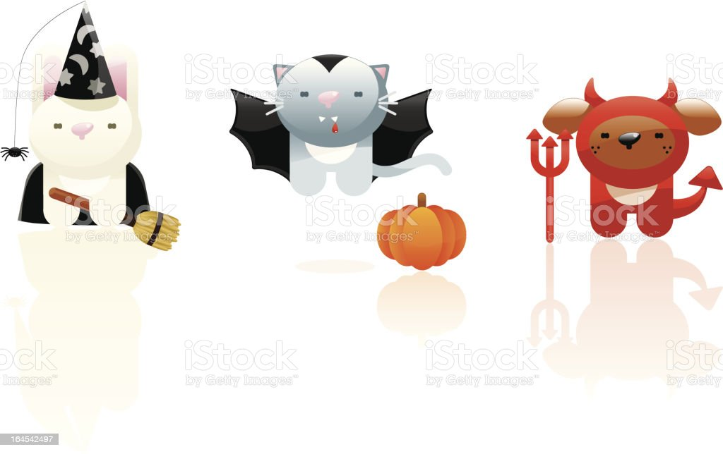 Cute halloween critters royalty-free stock vector art