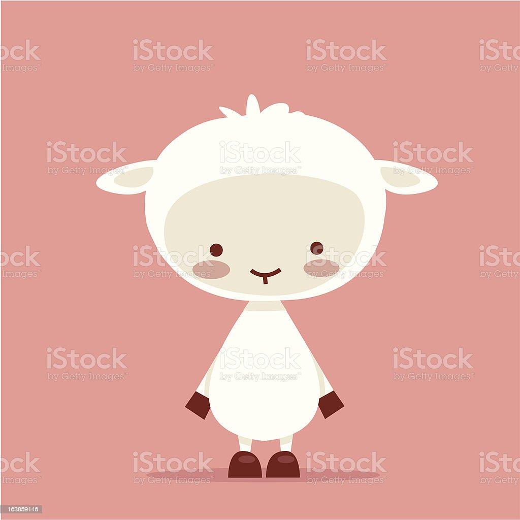 Cute lamb character vector art illustration