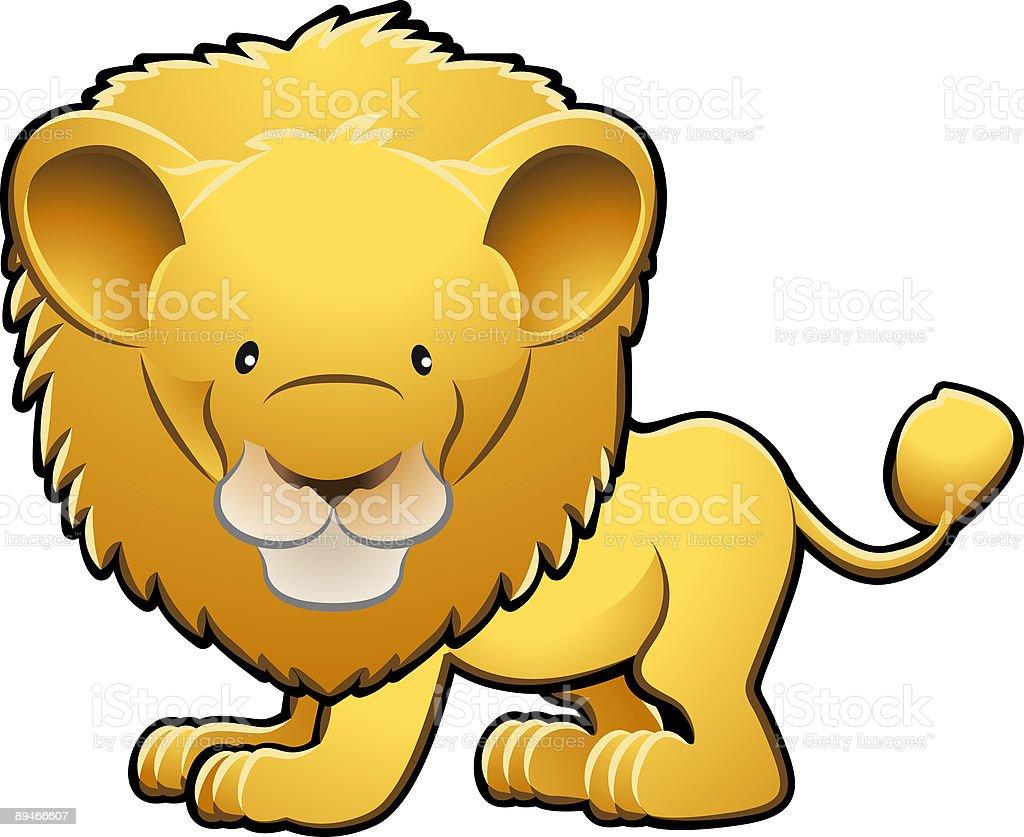 Cute Lion Vector Illustration royalty-free stock vector art