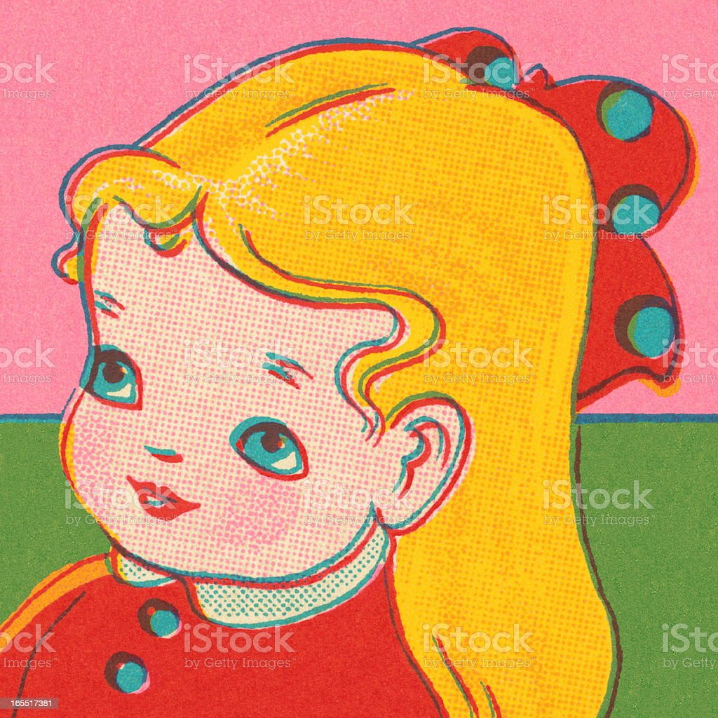 Cute Little Girl royalty-free stock vector art