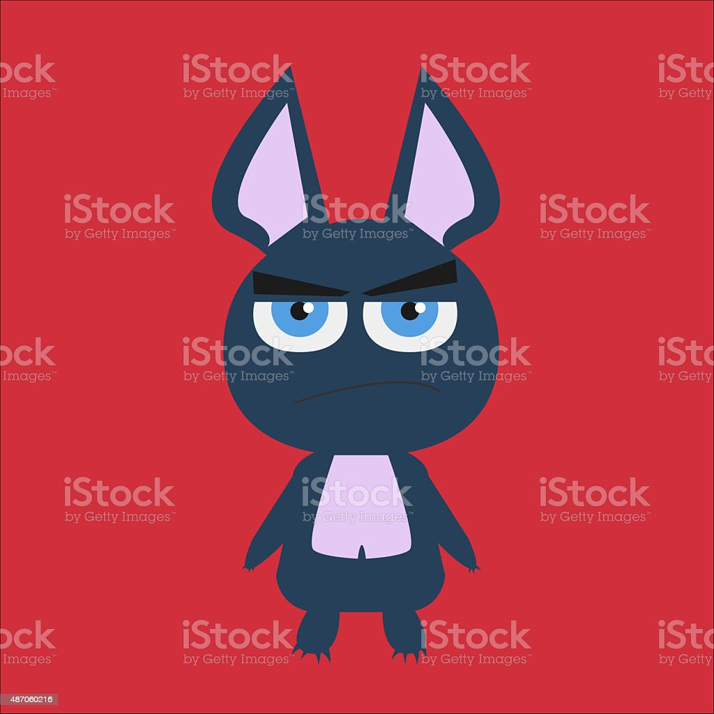Cute Monster Rabbit vector art illustration