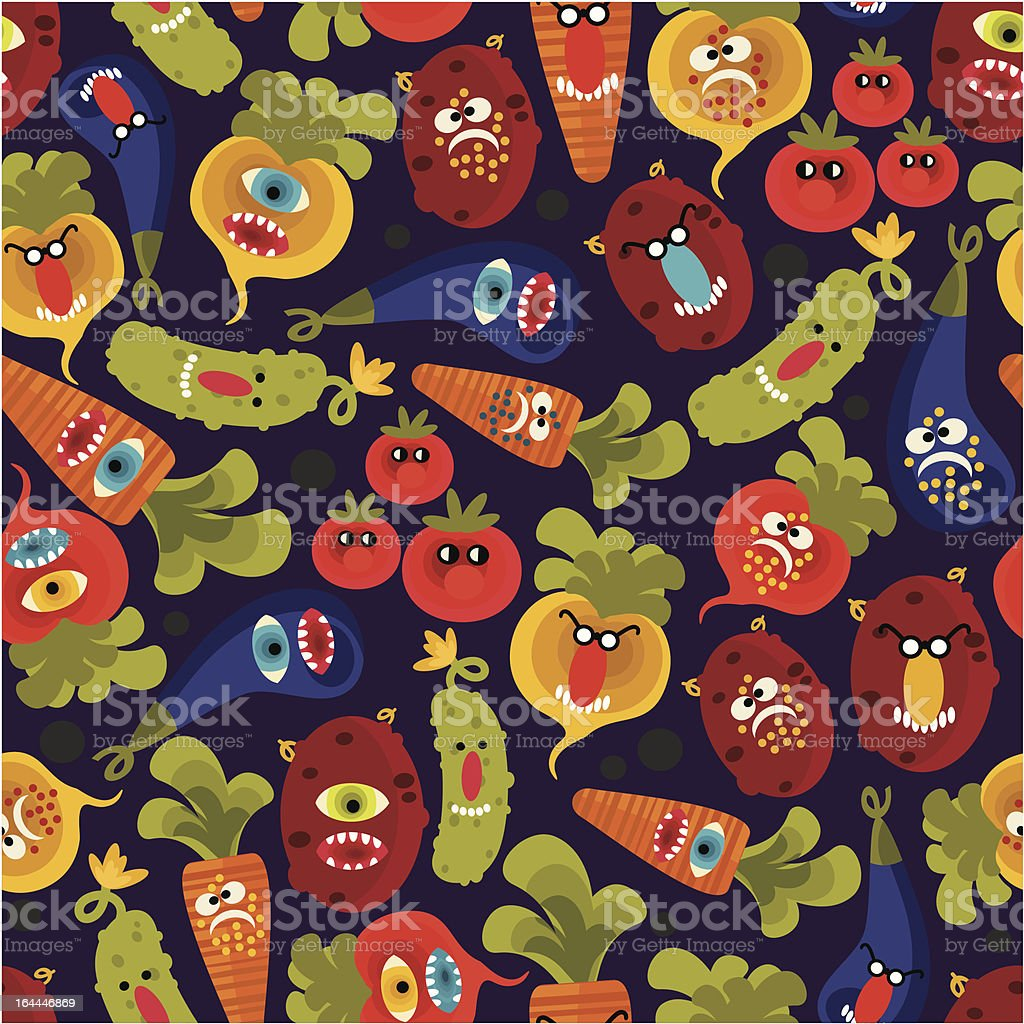 Cute monsters seamless texture for this autumn.. royalty-free stock vector art
