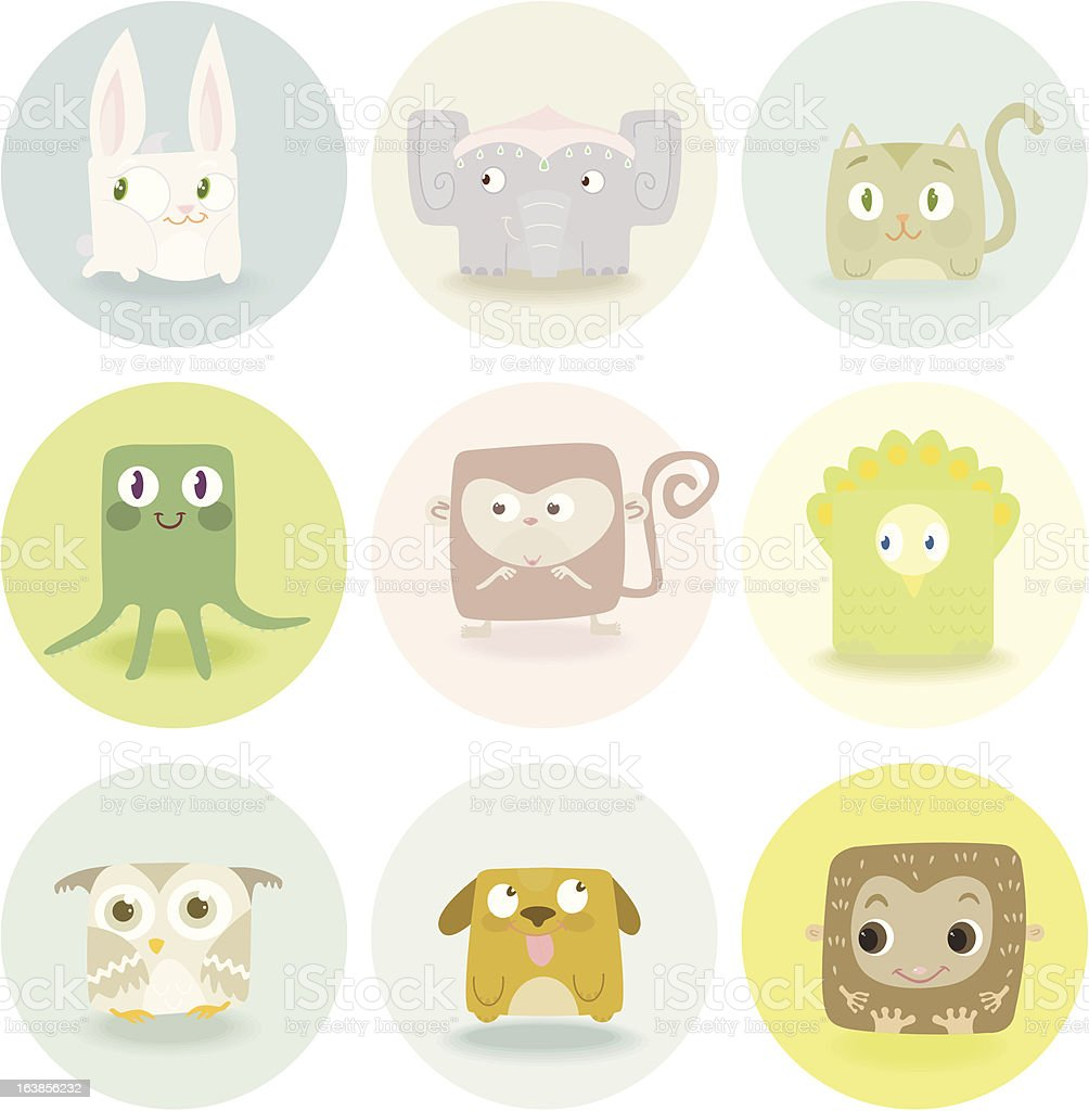 cute quad-animals ! royalty-free stock vector art
