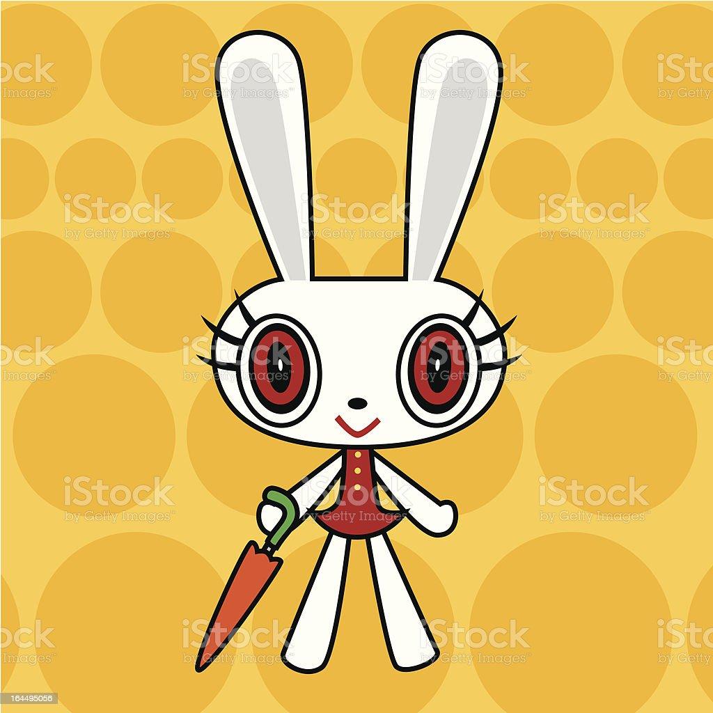 Cute rabbit vector art illustration