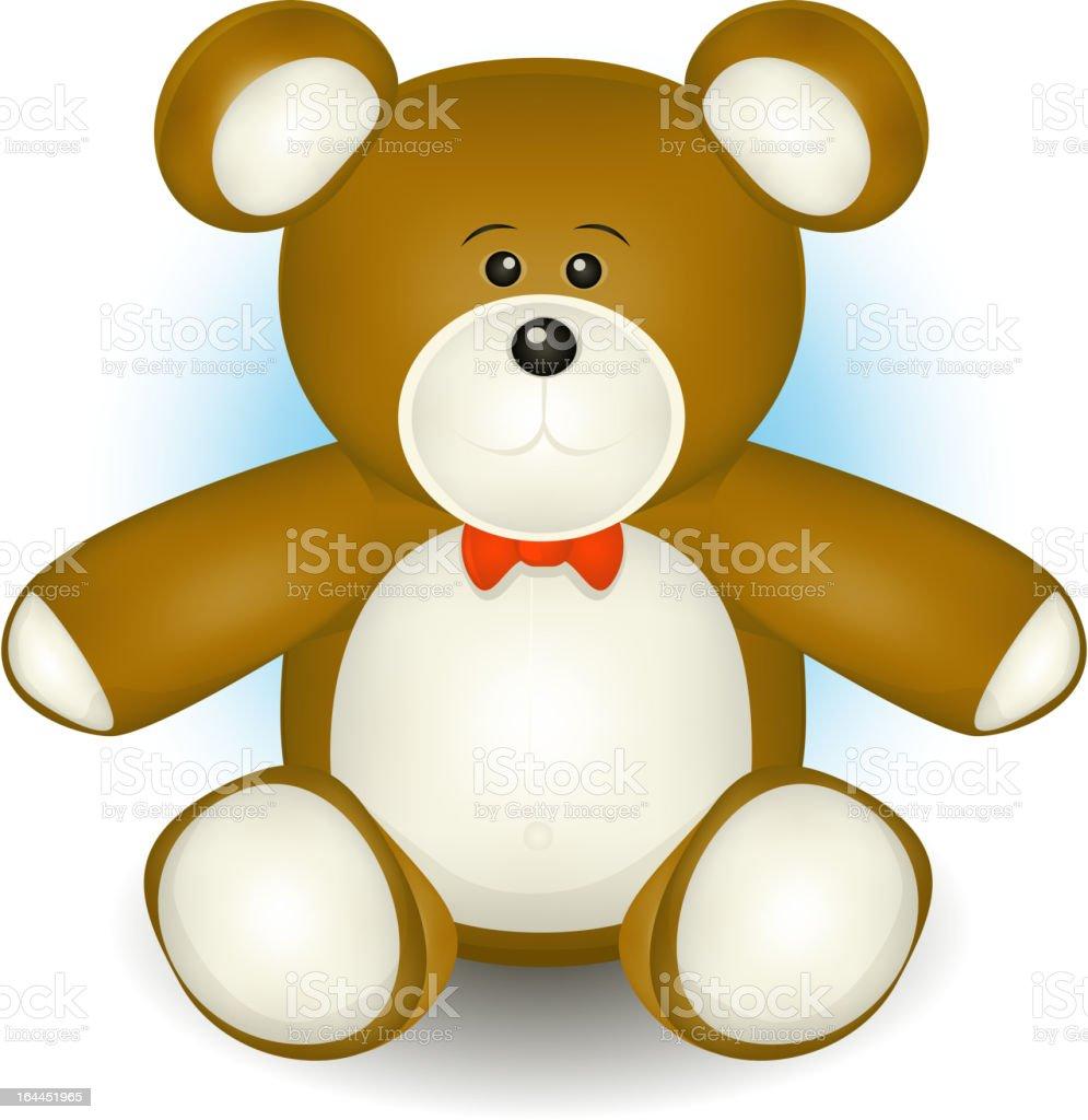 Cute Teddy Bear vector art illustration