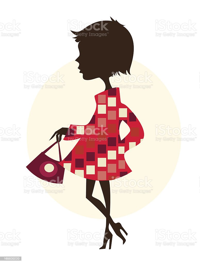 Cute vector girl royalty-free stock vector art