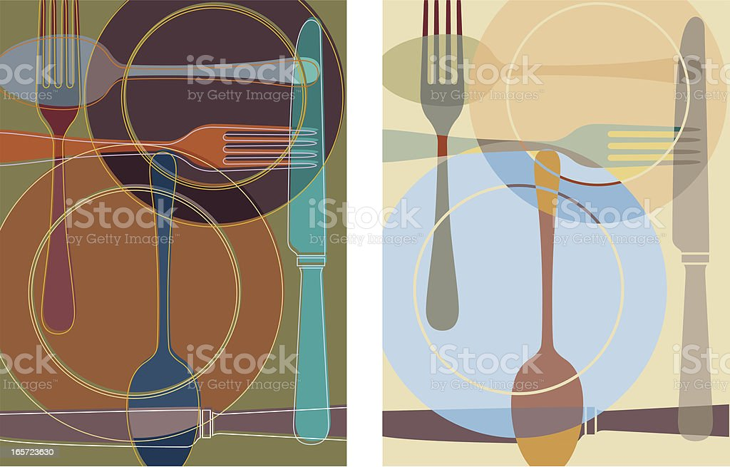 Cutlery background royalty-free stock vector art