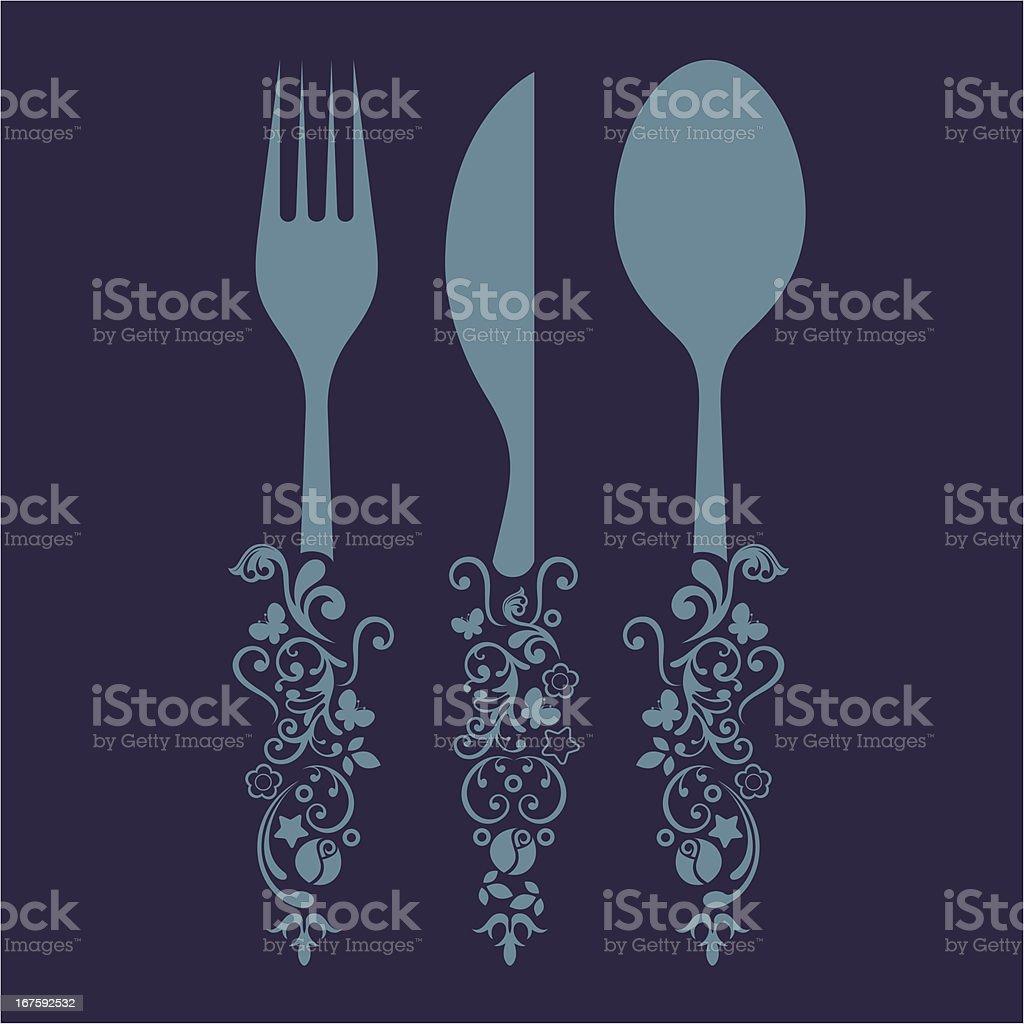 Cutlery set. royalty-free stock vector art