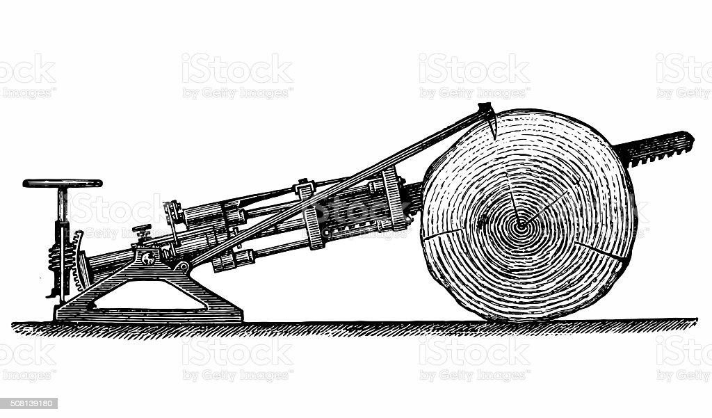 Cutting machine vector art illustration