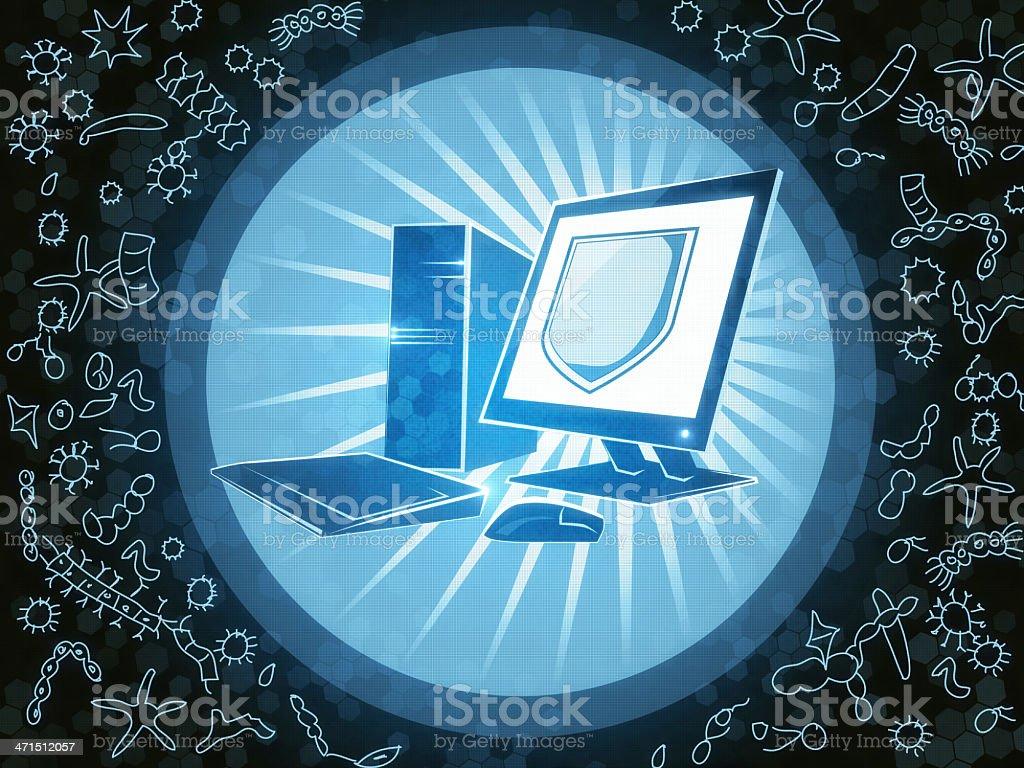 Cyber Attacks vector art illustration