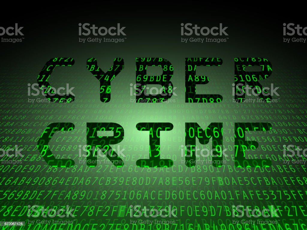 Cyber Crime Data Background vector art illustration