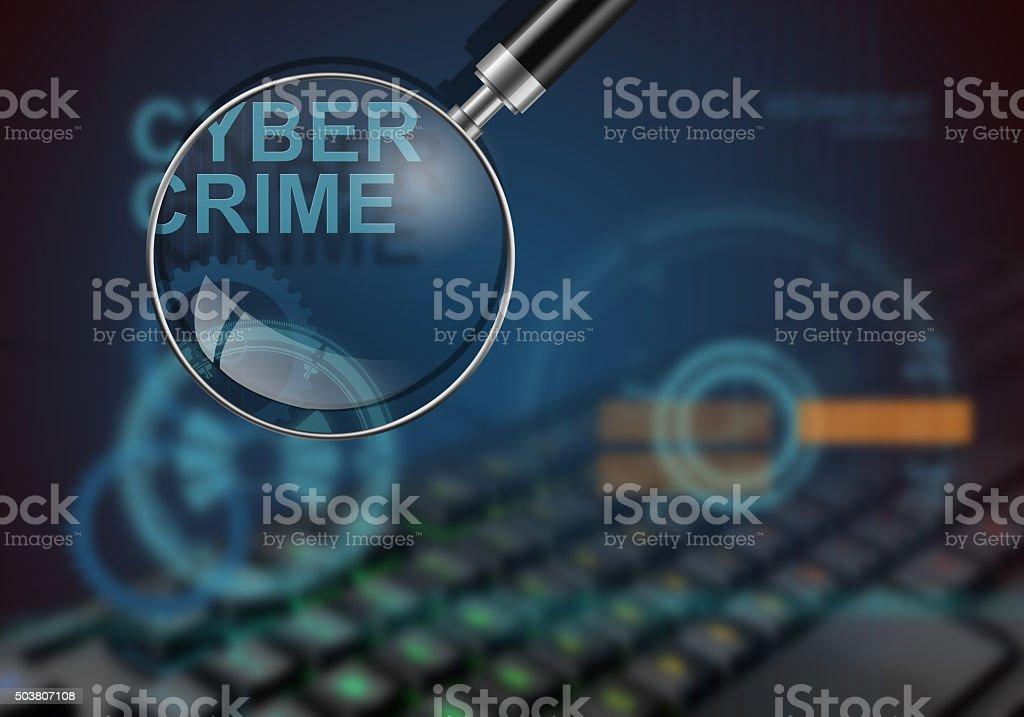 cyber crime vector art illustration