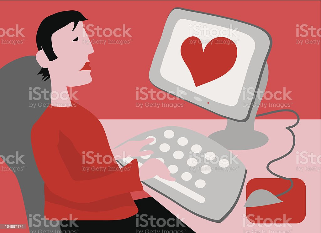 Cyber Love royalty-free stock vector art