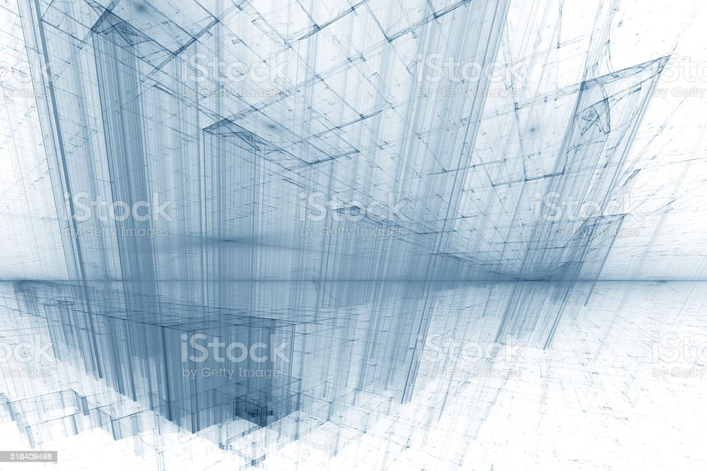 Cyber Space - Abstract Futuristic Background stock photo