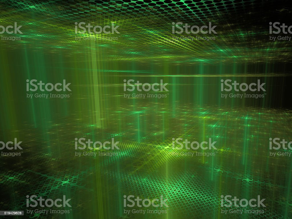 Cyber Space - Abstract Futuristic Background vector art illustration