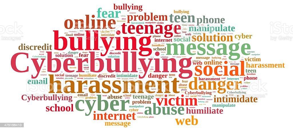 Cyberbullying. vector art illustration
