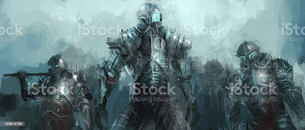cybernetics army royalty-free stock vector art