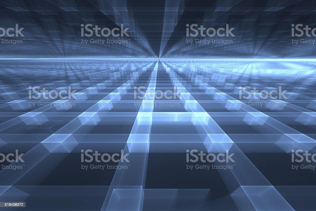 Cyberspace vector art illustration