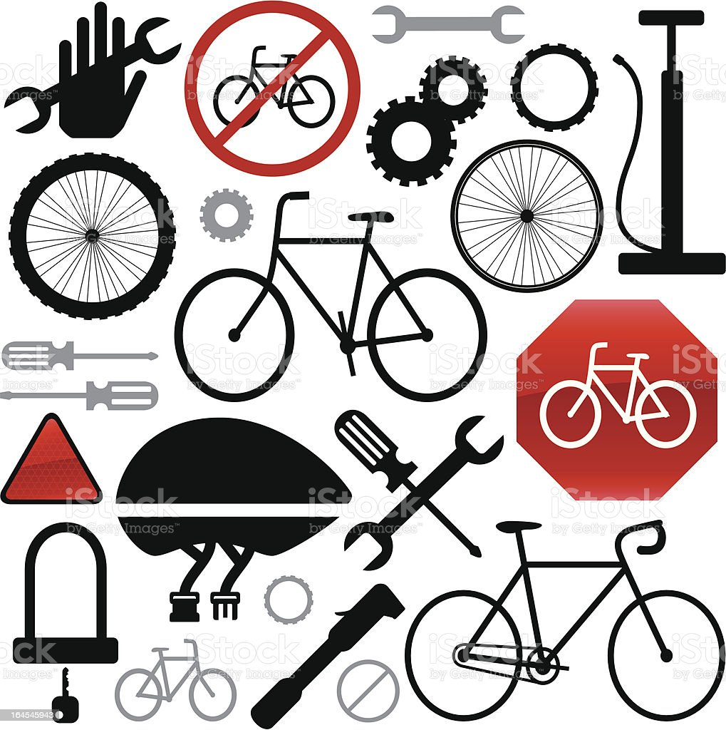 Cycling Elements royalty-free stock vector art