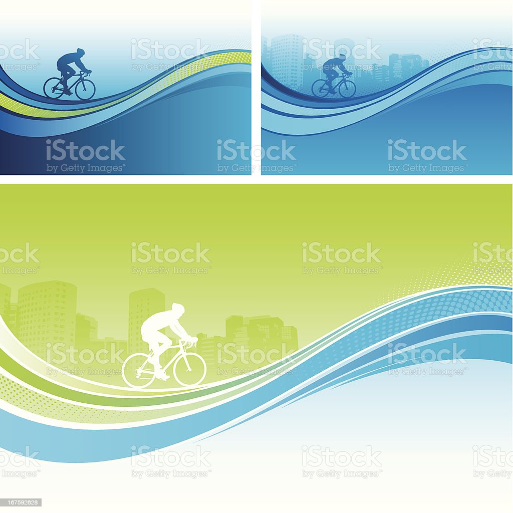 Cycling flow backgrounds royalty-free stock vector art