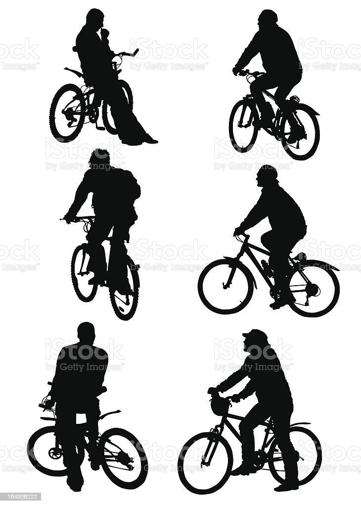 Cycling Helmet royalty-free stock vector art