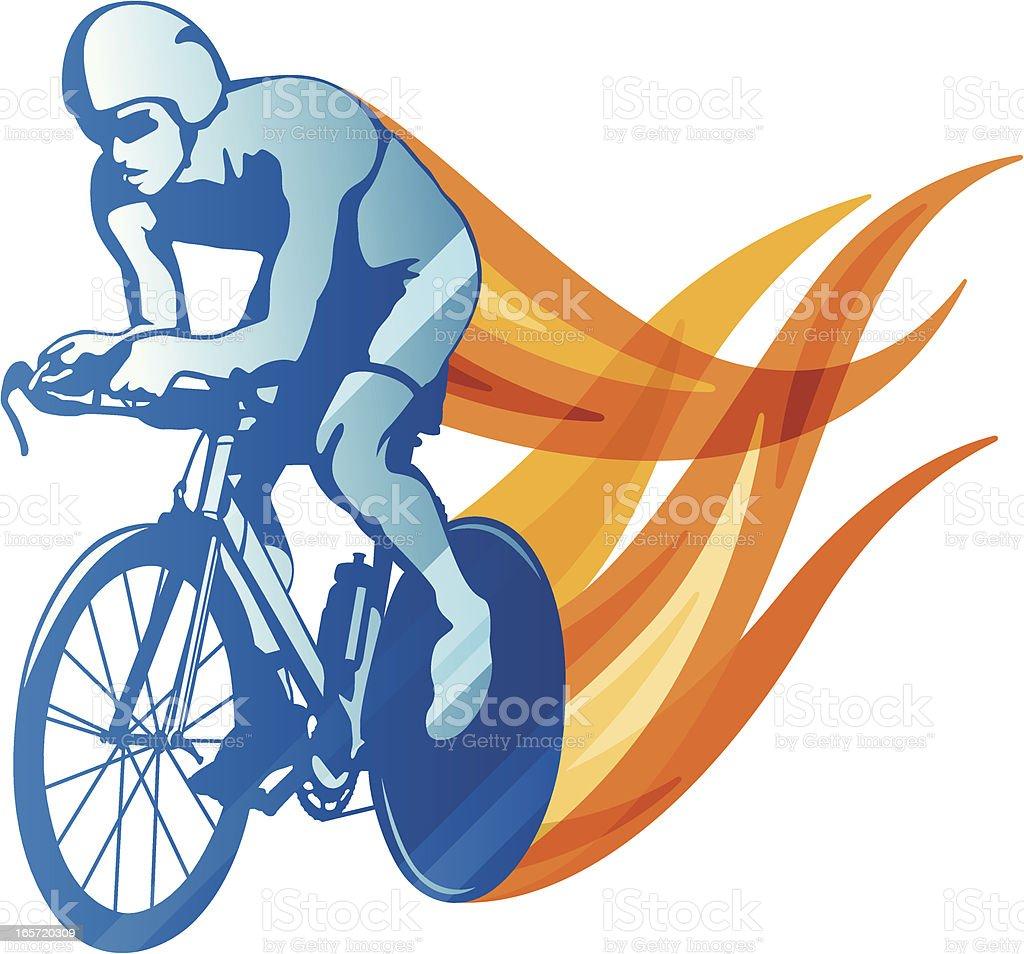 Cyclist vector art illustration