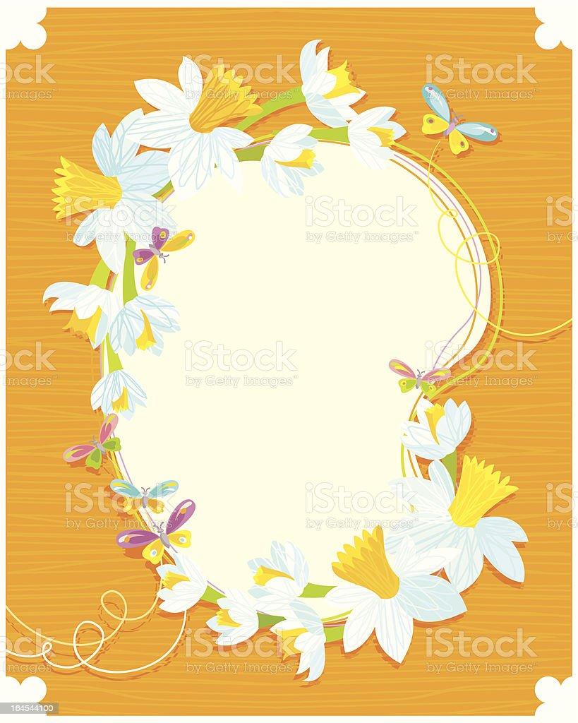Daffodil Frame royalty-free stock vector art