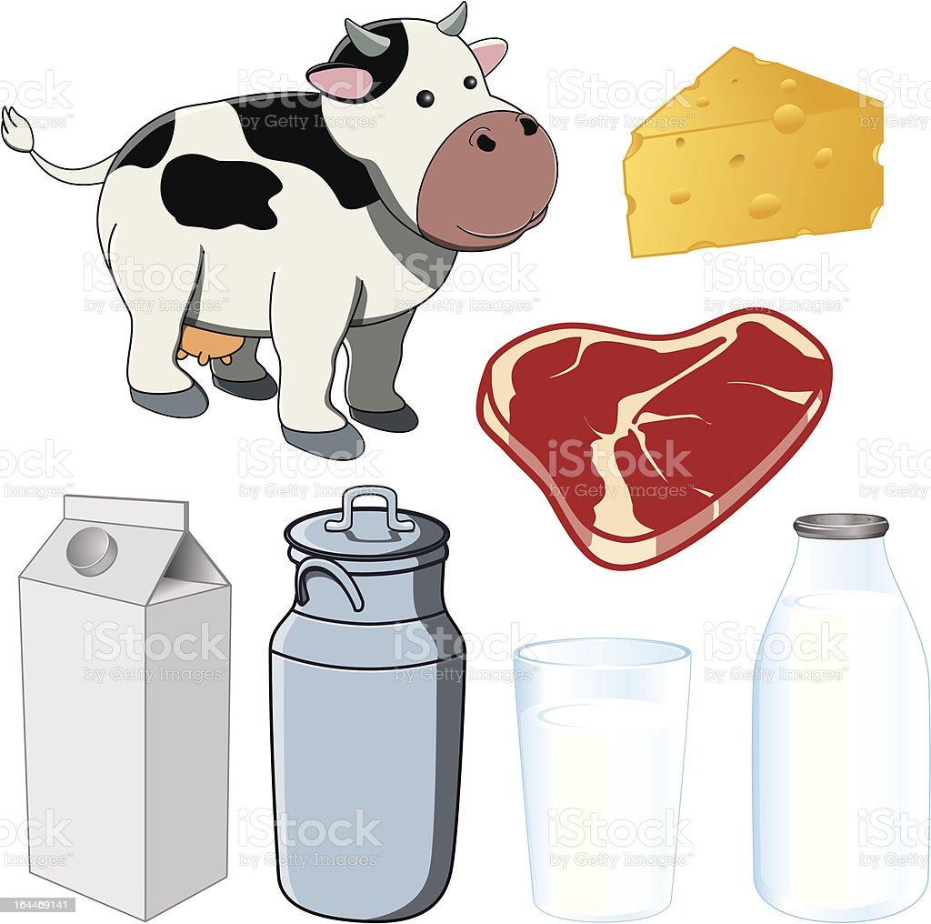 Vaca lechera illustracion libre de derechos libre de derechos