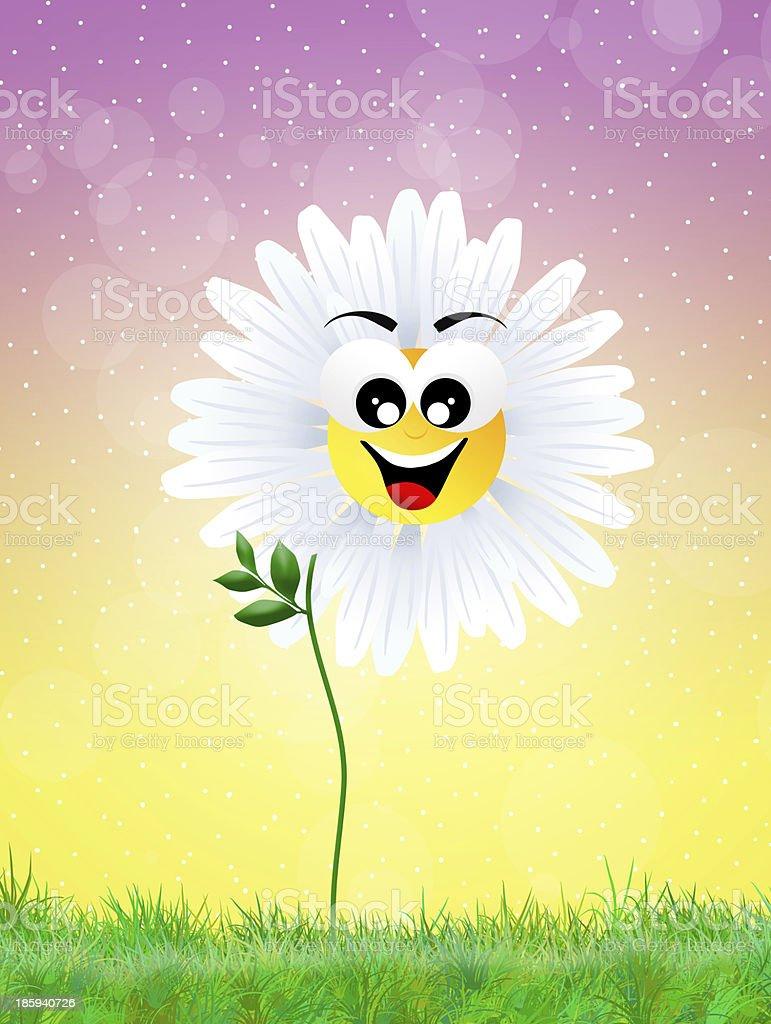 Daisy cartoon royalty-free stock vector art