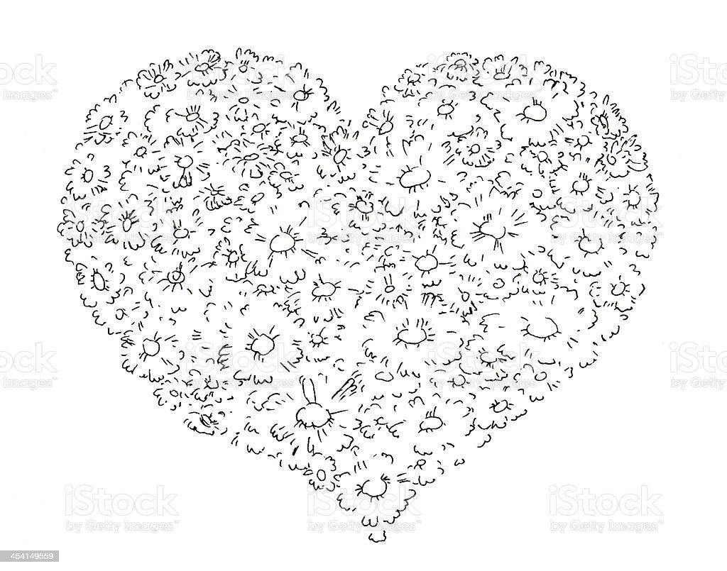 Daisy heart royalty-free stock vector art