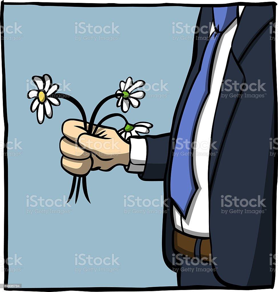 Daisy Man royalty-free stock vector art