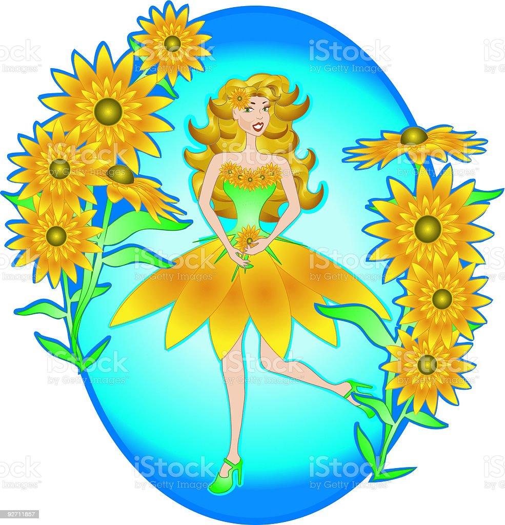 Daisy Princess royalty-free stock vector art