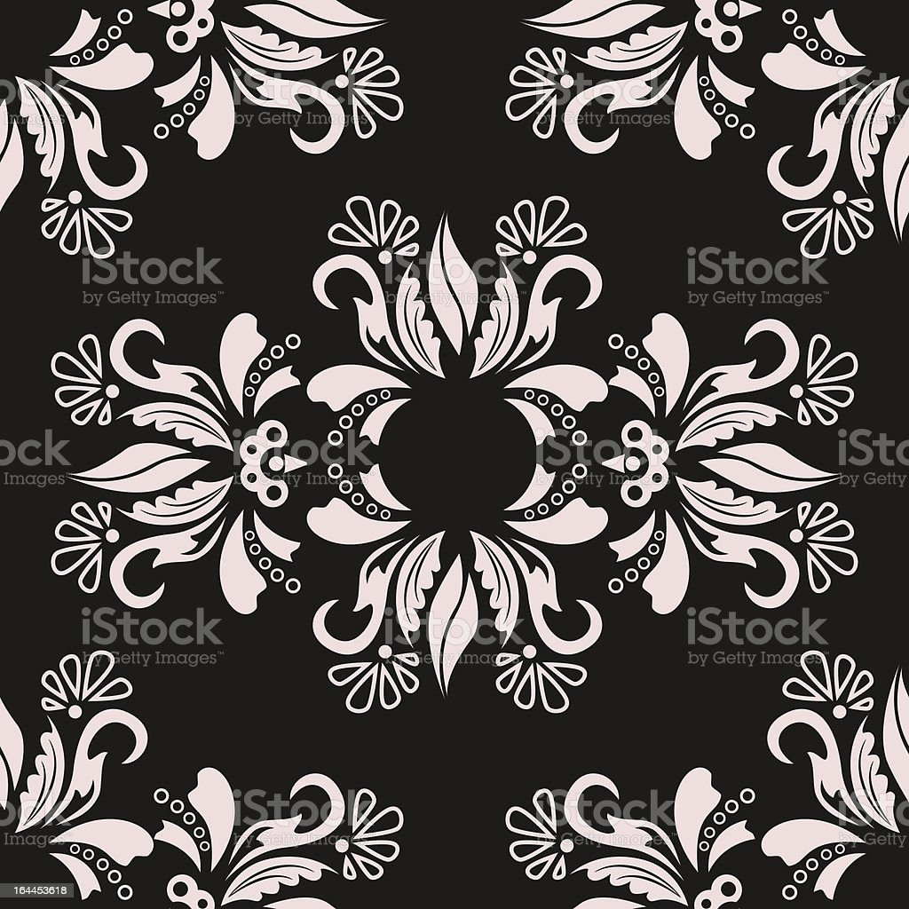 Damask background royalty-free stock vector art