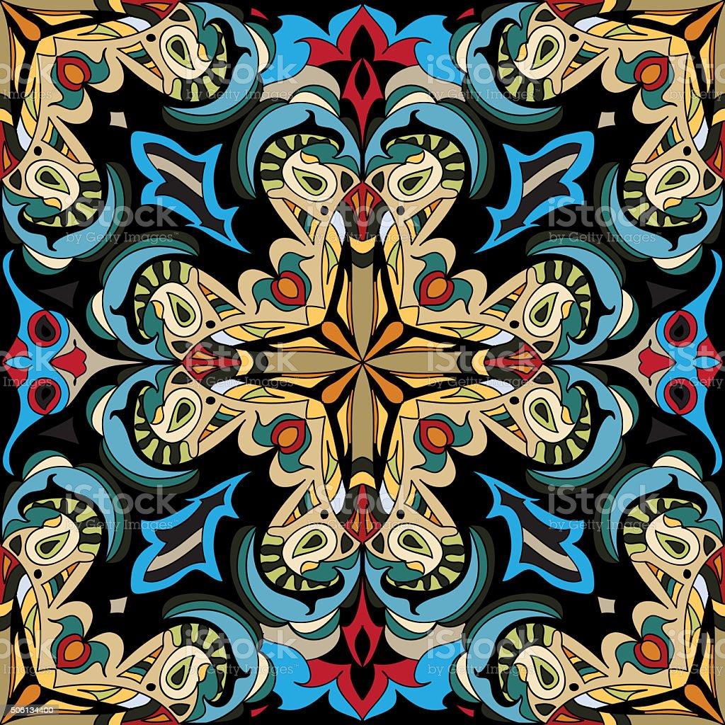 Damask royal seamless pattern vector art illustration