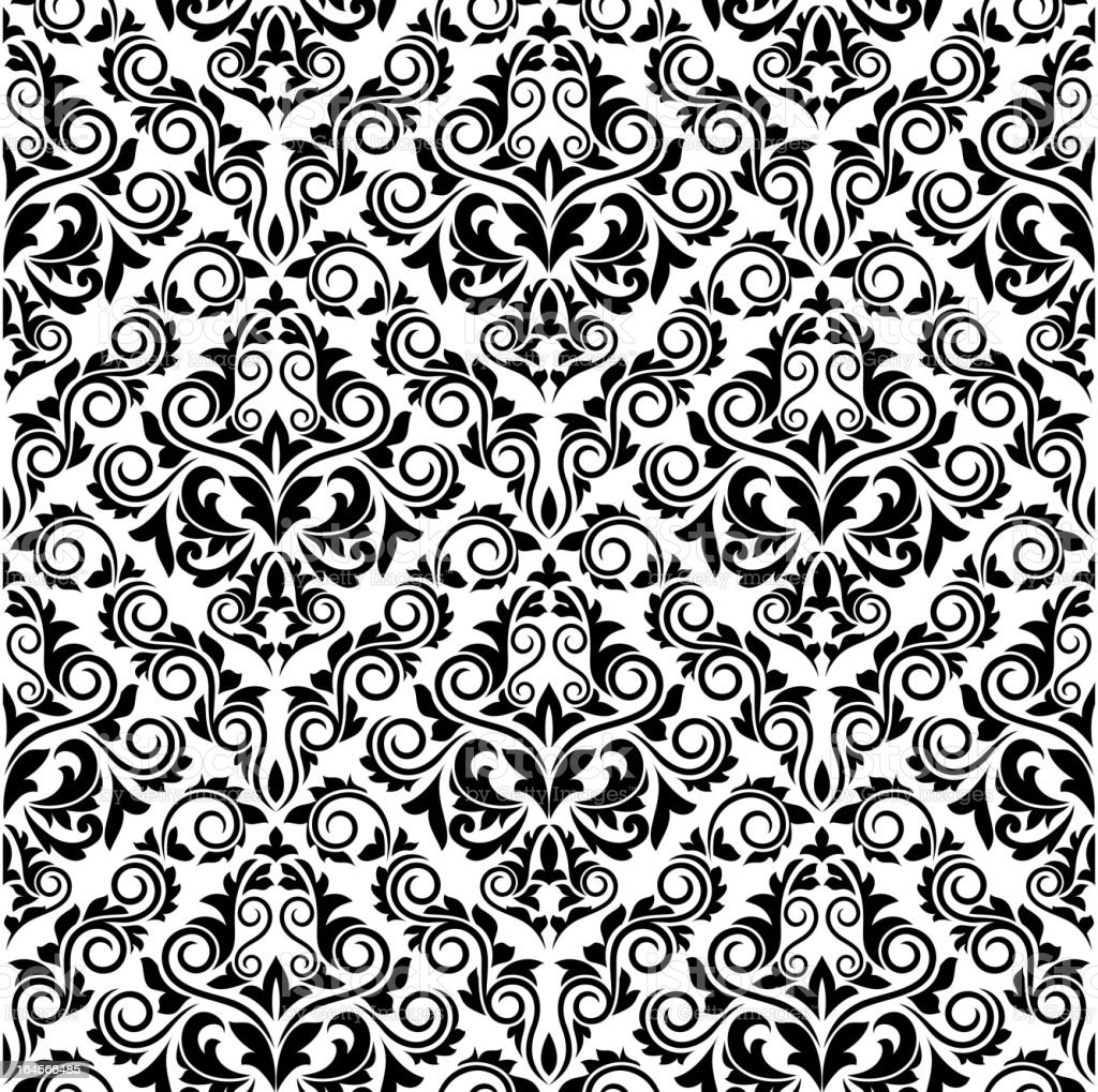 Damask seamless background royalty-free stock vector art