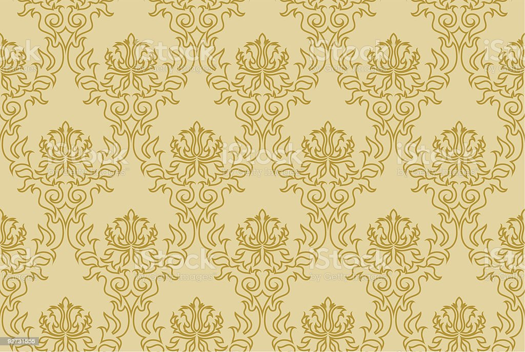 damask seamless royalty-free stock vector art