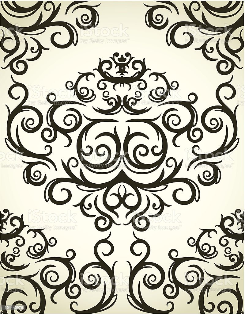 Damask seamless pattern royalty-free stock vector art