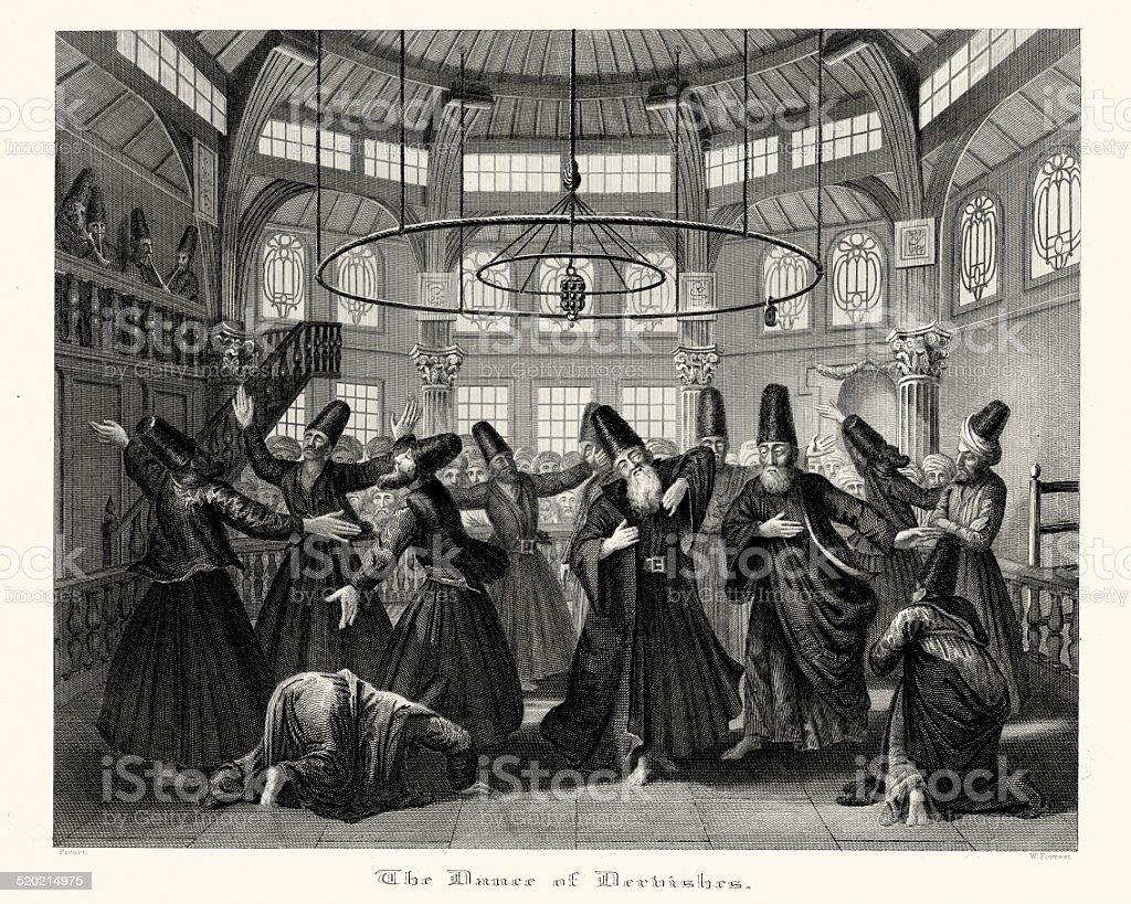Dance of the Dervishes vector art illustration