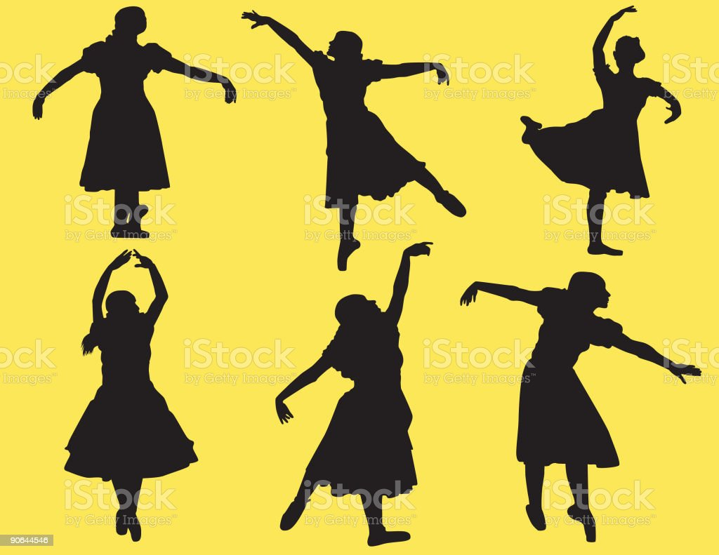 Dance Poses ( Vector ) royalty-free stock vector art
