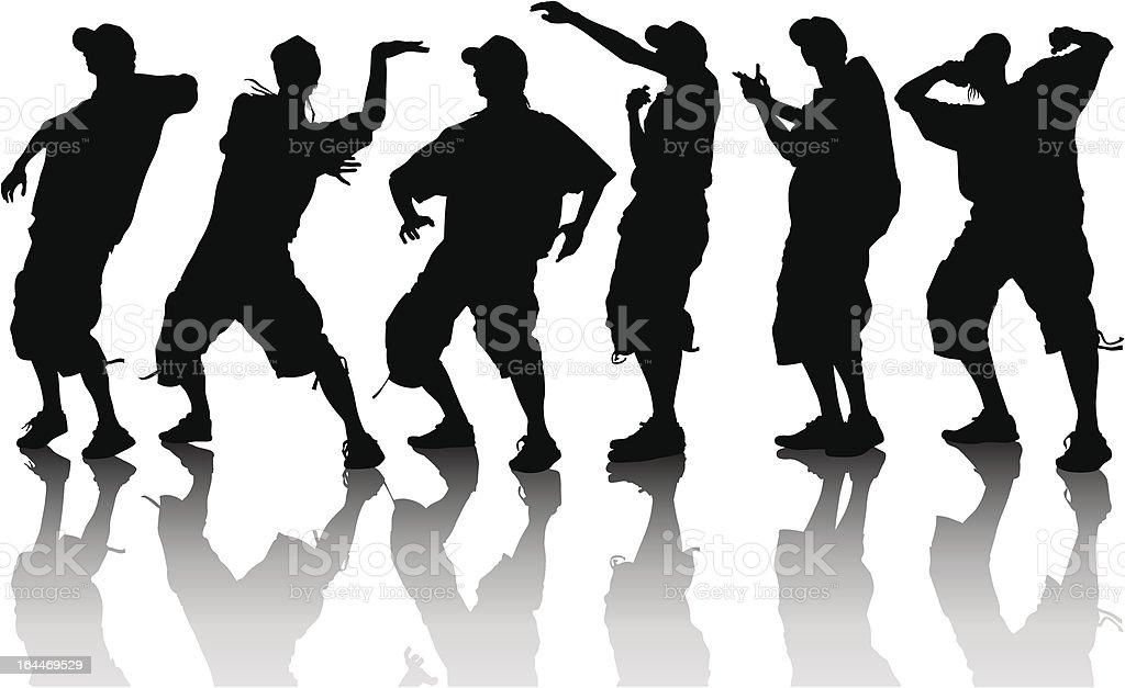 Dancer boys vector art illustration
