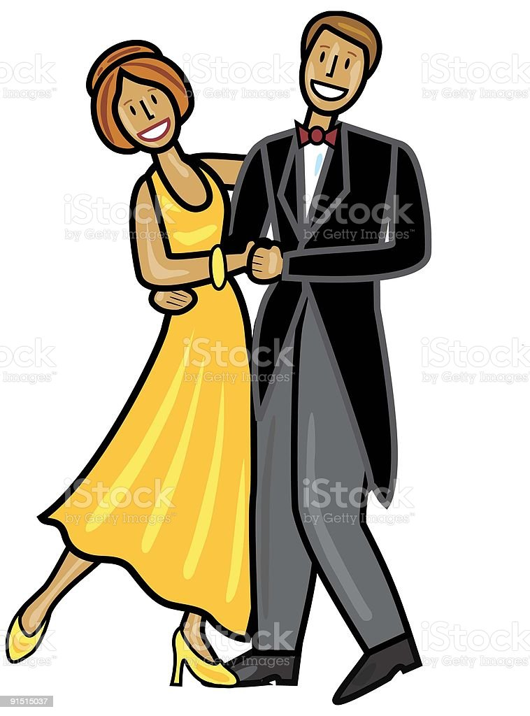 Dancing Couple royalty-free stock vector art