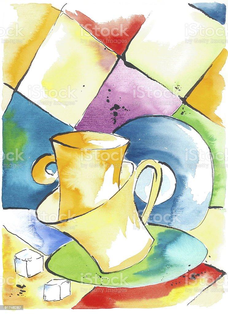 Dancing Cups royalty-free stock vector art