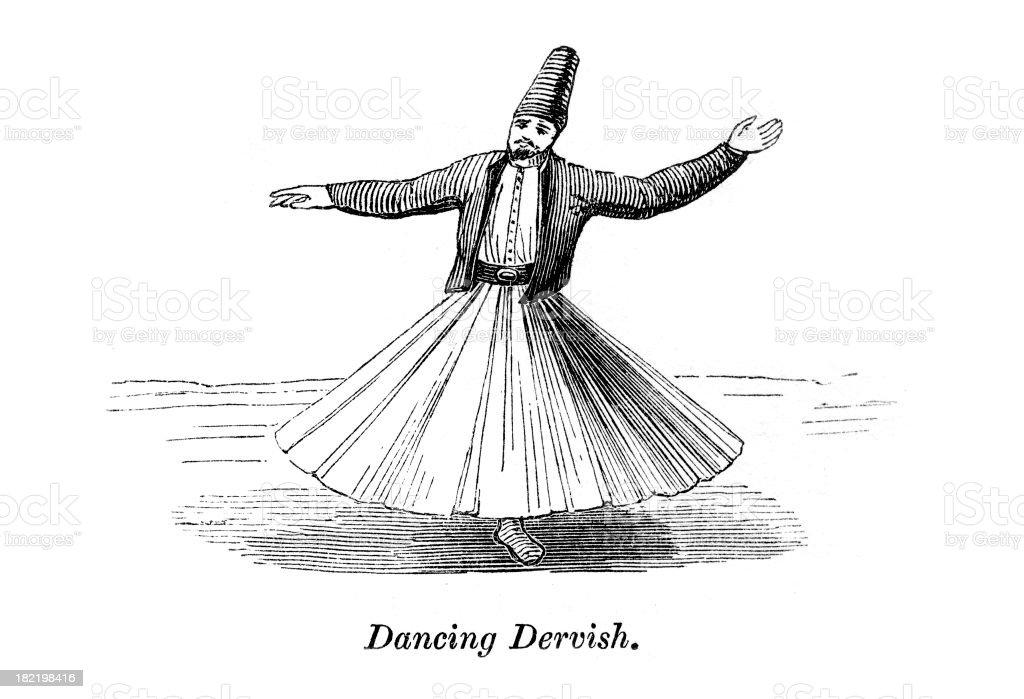 Dancing Dervish vector art illustration
