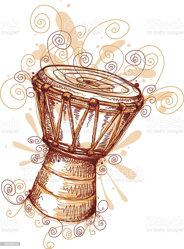Dancing Drum vector art illustration