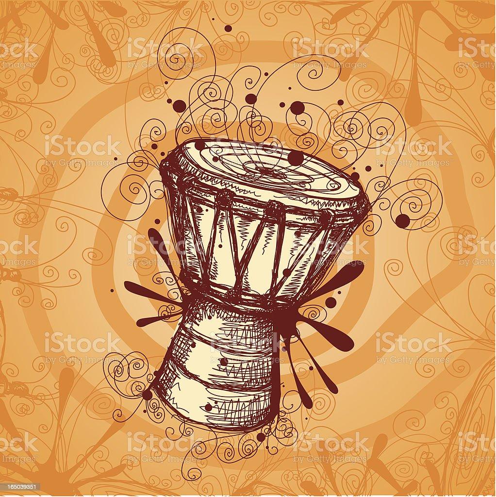 Dancing Drum vector art illustration