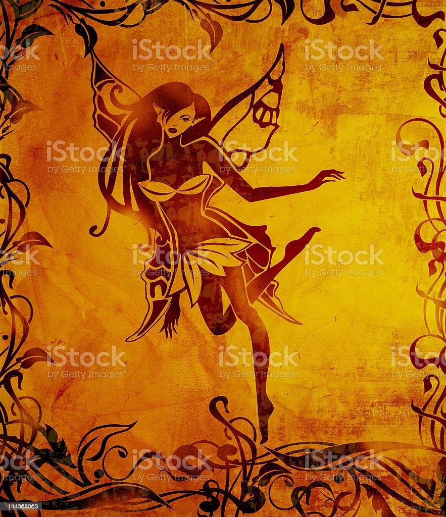 Dancing elf royalty-free stock vector art