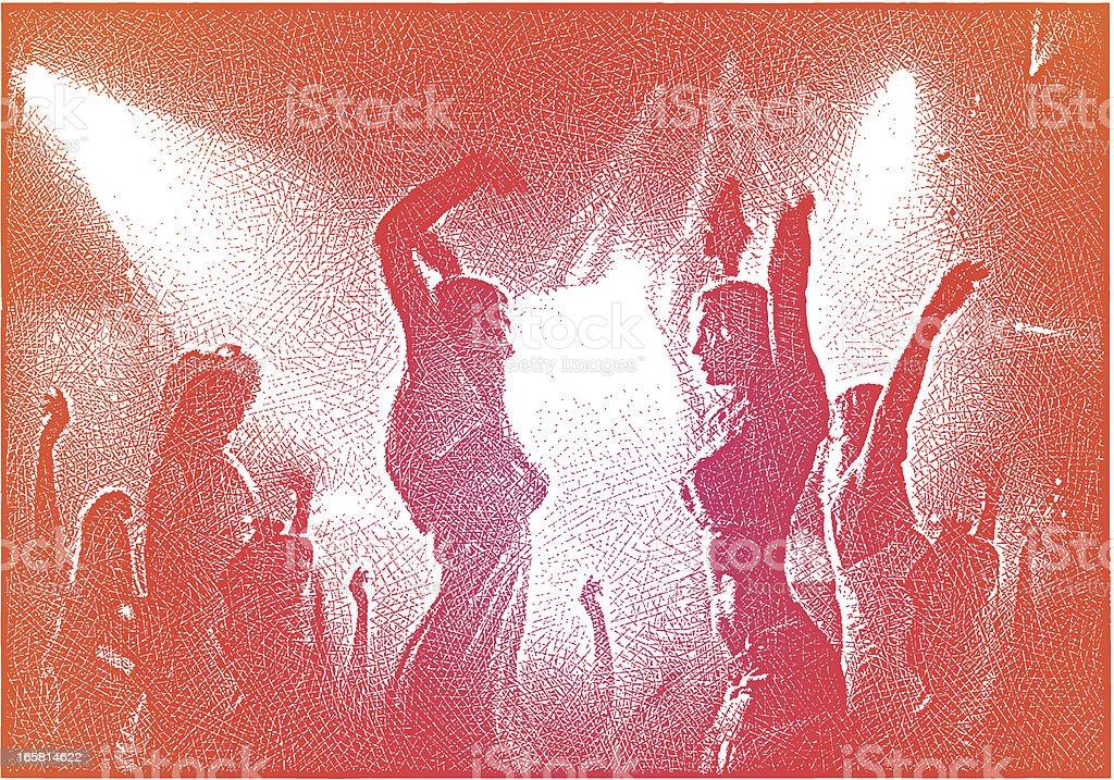 Dancing in a Nightclub royalty-free stock vector art