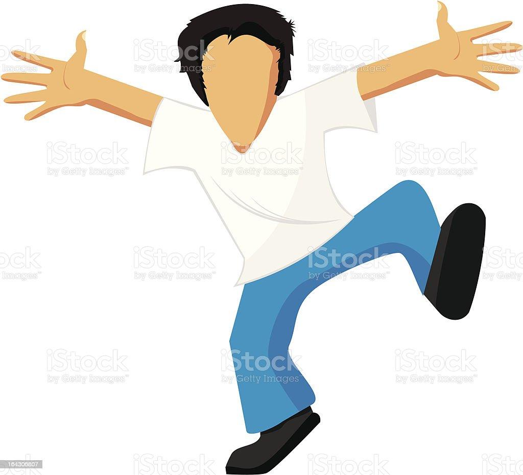 Dancing man royalty-free stock vector art